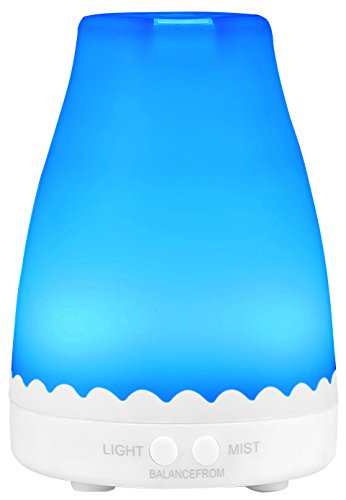 BalanceFrom Essential Oil Diffuser, 120ml Aroma Essential Oil Cool Mist Humidifier with Adjustable Mist Mode,Waterless Auto Shut-off and 7 Changeable Color LED Lights 41gR0Vpo3oL