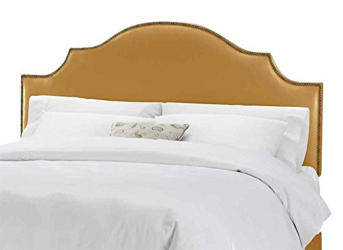 UPC 888173224696, Notched Nail Button Headboard w Foam Padding in Aztec Gold (Full/Queen)