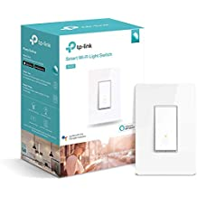 Kasa Smart Light Switch by TP-Link – Needs Neutral Wire, WiFi Light Switch, Works with Alexa & Google (HS200) White 1-Pack