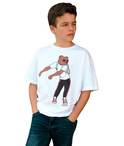 Riot Society Flossin Bear Boys Tee - White, Large