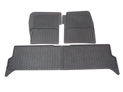 Genuine Land Rover Black Rubber Floor Mats STC50048 for Discovery 2 - Land Rover Discovery Rubber