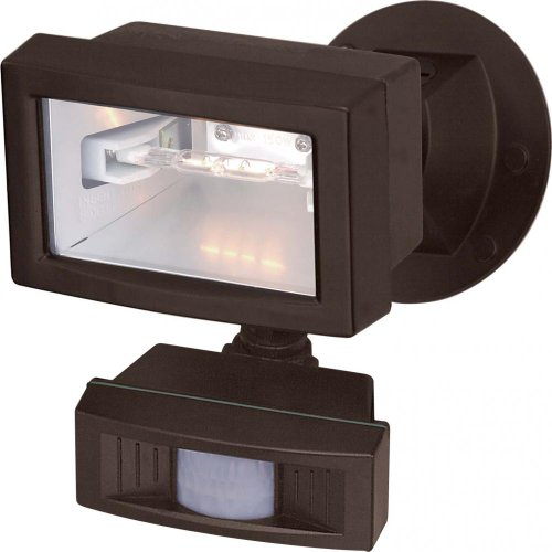 UPC 045923765056, Nuvo SF76/505 Mini Halogen Floodlight with Motion Sensor, Bronze