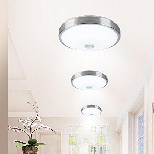 ZHMA Sensor de movimiento Sensor de cuerpo de lámpara de techo de 18 vatios, Lámpara de techo de montaje empotrado, Detección automática de movimiento, ...