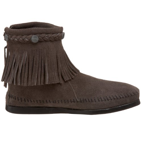Minnetonka Hi Top Back Zip Boot 299 - Botas de ante para mujer Gris(Grey)