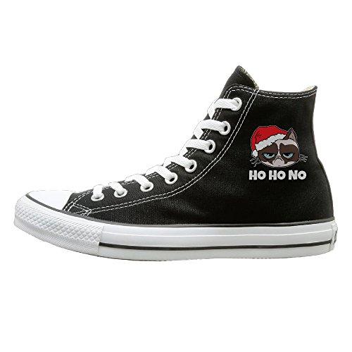 [JML Unisex Classic Grumpy Santa Cat Christmas Xmas Slip-On Shoes Black Size35] (Grumpy Cat Costume Ideas)