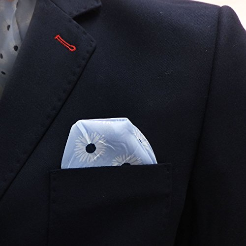 Mens Blazer Bewley Ritch Suit Giacca Blazer coat Smart Navy con tasca quadrato