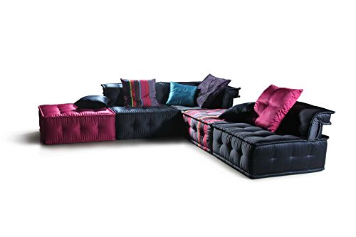 Chloe (LS103DA) Multi Colored Fabric Sectional Sofa