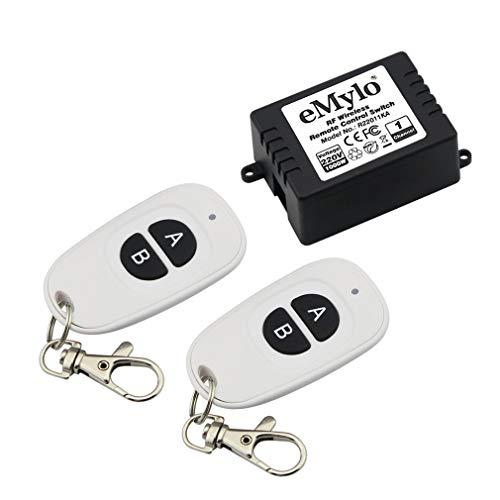 eMylo AC110V 2000W 433mHz 1Channel RF Relay Wireless Remote Control Light Switch Transmitter with Receiver
