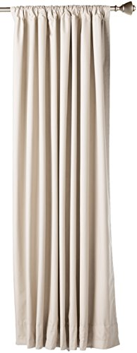 اسعار AmazonBasics Room Darkening Thermal Insulating Blackout Curtain Set with Tie Backs - 52 x 63 Inches, Beige (2 Panels)