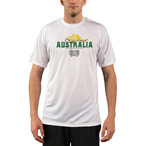 Australia Rugby Men's UPF Performance T-shirt X-Large White