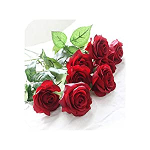 meiguiyuan 10pcs 11pcs/Lot Latex Rose Artificial Flowers Real Touch Rose Flowers for New Year Home Wedding Decoration Party Birthday Gift 62