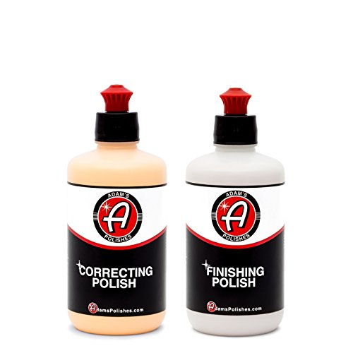Adam's Correcting & Finishing Polish Combo - Correct and Polish Your Cars Paint for a Perfect, Scratch & Swirl Free Finish - Restore Your Vehicles Clear Coat in Two Steps - Finishing Paint