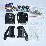 Muccus 1pcs Ultrasonic Module HC-SR04 + 1pcs 9G SG90 servo Motor +1pcs FPV Dedicated Nylon PTZ for arduino kit