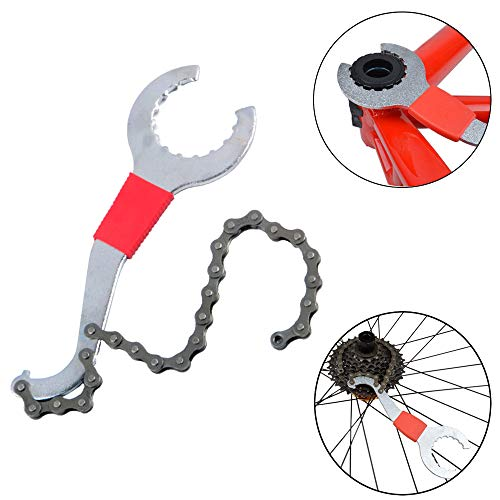 Od-sport 3 in 1 Bicycle Chain Whip Lockring Wrench - Bike Cassette Removal Tool,Shimano Freewheel Removal Set for 8 9 10 11 Speed