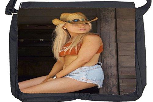 Borsa Tracolla Sexy Divertimento cowgirl sexy Stampato