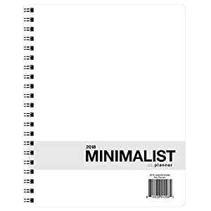 Action Publishing 2018 Large Minimalist Planner (8.5 x 11 inches) - 12 Monthly Calendar Overview, To-do Lists, Weekly and Daily Planning