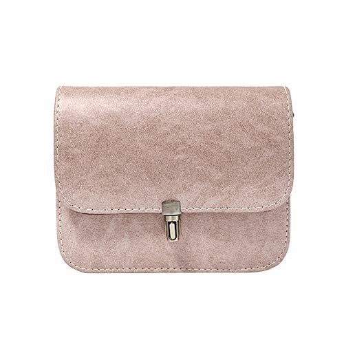 Bolsas Moda Simple Delidraw Regalos Niñas Color Bolso Coreana Rectángulo Cuero Damas Mini De Para Hombro Sólido Pink Casual Messenger 7HCwqxS