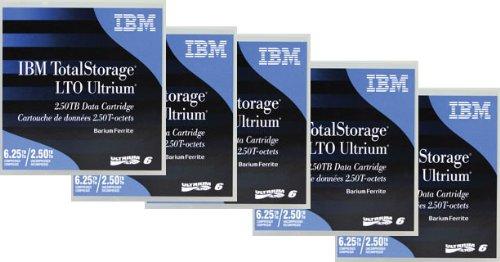 105.4/X 102/X 21,5/mm, LTO, 10/–45//°C, 10/–80/% IBM LTO Ultrium 6/Tape/ /Virgin