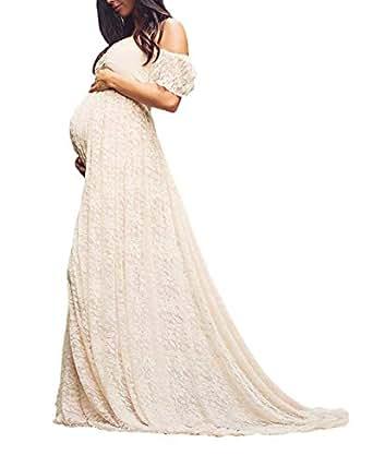 f19be44be Vestido De Maternidad Elegantes para Mujer Vestidos De Boda Basic Festivos  Fuera del Hombro Vestidos De