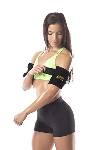 Sports Research Sweet Sweat Premium Arm Trimmers for Men & Women | Helps improve Circulation & Sweating | Includes Bonus Breathable Carrying Bag