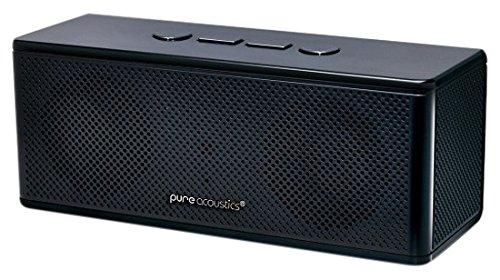 Pure Acoustics HipBox-Mini Wireless Portable Bluetooth Companion Speaker with Aux + FM Radio and Phone Call Handling - Black