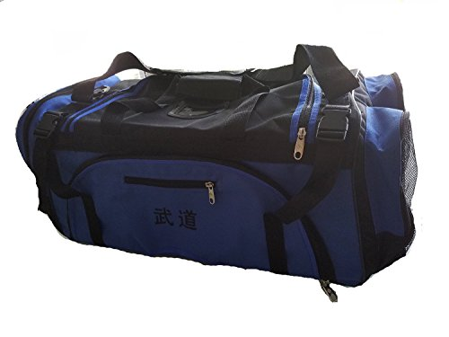 GTE-Zone-Taekwondo-Martial-Arts-MMA-Karate-Sparring-Gear-Equipment-Bags-13x27x14-Deluxe-Blue-Bag-125E