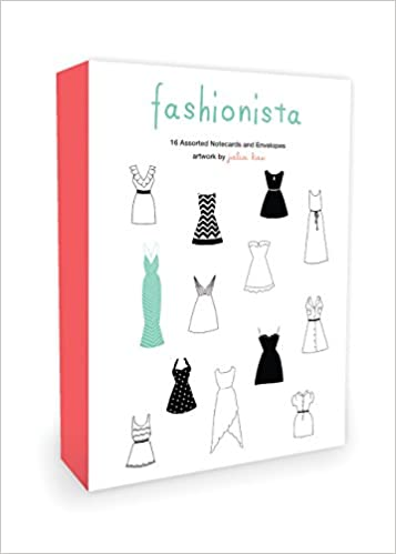 fashionista note cards 16 assorted note cards and envelopes