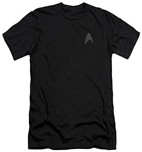 (Star Trek Into Darkness Darkness Command Logo Slim Fit T-Shirt Large Black)