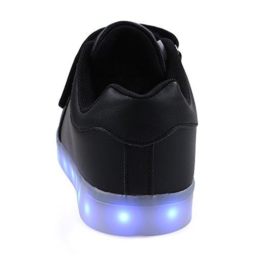 LED 7 heise Mädchen Kinderschuhe Jungen USB Schuhe Leuchtschuhe Aufladen Blinkschuhe SAGUARO® Leuchtende Up Licht Sport Farben Light D Turnschuhe Sneaker qtHw81