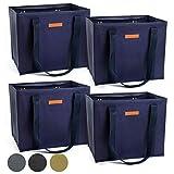 Bolsas de la compra reutilizables, Azul marino, 4