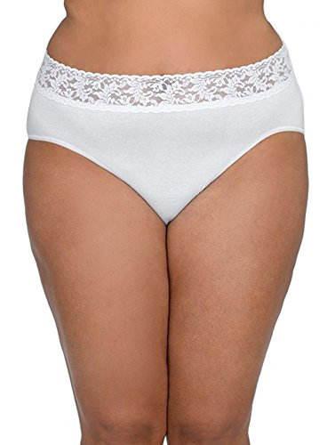 Hanky Panky Organic Cotton Plus Size Brief Panty (892461X) 1X/White