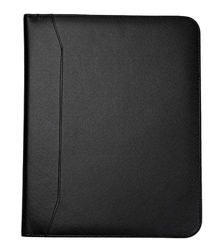 business letter size executive padfolio portfolio with writing pads left handed and right handed use by jancosta black