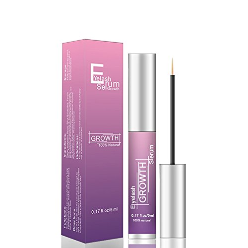 Eyelash Serum Eyelash Growth Serum Lash Enhancer Serum Eyelash Booster for Longer Fuller Eyelashes Eyebrow Enhancer Serum 5ml purple ()