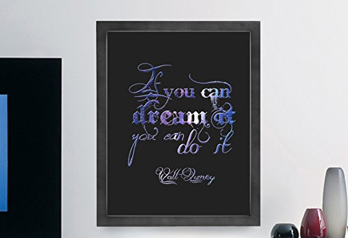 Walt Disney Inspirational Typography Quote Wall Poster Print D?cor If You Can Dream It