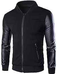 Neleus Men's Stand Collar Slim Fit Lightweight Varsity Baseball Jacket