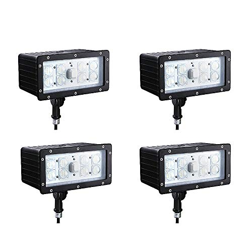 LED Flood Light 70W(250W Eq.) 4 pack, Outdoor Security Lights, Super Bright 6880lm 5000K, Waterproof IP65 AC100-277V Outdoor Area Lighting with UL DLC Listed for Garden, Backyard and Wall, etc.