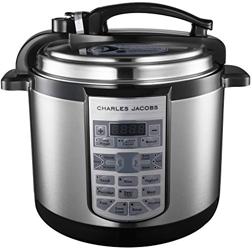 Charles Jacobs 7in1 Electric Pressure Cooker - Brushed Stainless Steel - 17...