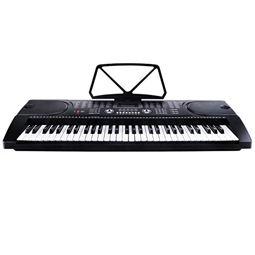 [해외]LAGRIMA 블랙 61 키 음악 전자 키보드 전기 디지털 피아노 오르간 마이크/LAGRIMA Black 61 Key Music Electronic Keyboard Electric Digital Piano Organ