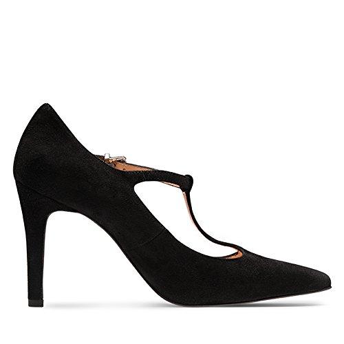 Evita Shoes mujer vestir Zapatos para de de negro Piel Negro rrwTS7qF