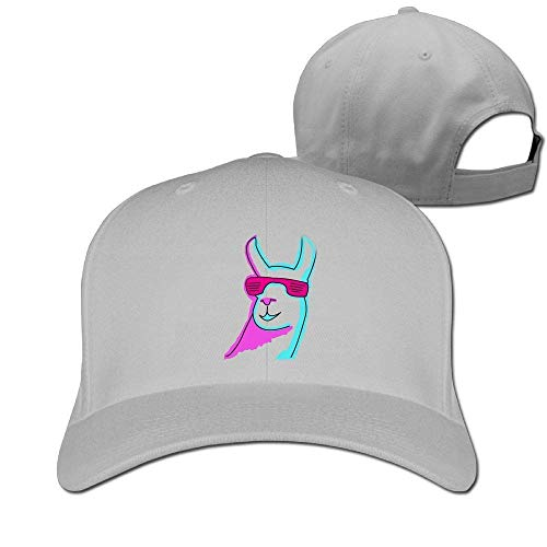 ABOUtshoc Cool Llama with Sunglass Hipster Baseball Cap Plain Low Profile Hat Trucker Twill Mesh Novelty Funny Hat Adjustable for Men Women Kids -