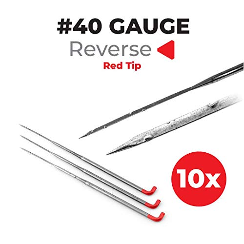 Felting Needles 40 Gauge Inverted Reverse – 10-Pack – Needle Felting – Felting Supplies Store – Great for Carded Wool – Wool Roving – Yarn – Non-Woven Fabric – Needle Felting Tools