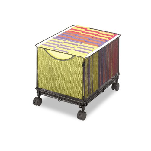 File Cube (Safco Products 5211BL Onyx Mesh Rolling File Cube, Letter Size,)