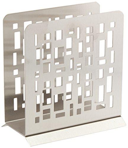 Wedding Gift Boxed Modern Napkin Holder Stainless Steel by HomeWorks ()