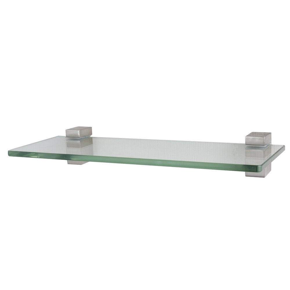 XVL 14 Inches Bathroom Glass Shelf Brushed