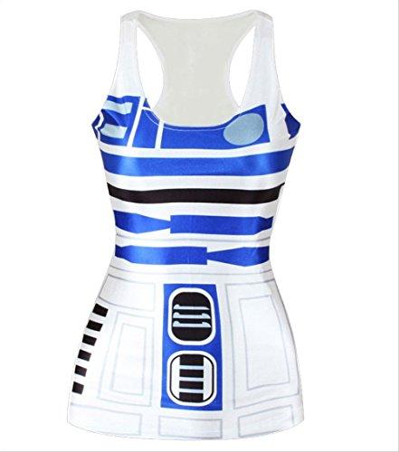 Amoluv Hot Fashion Women Star Wars Printed Sleeveless T Shirt Vest Tank Tops