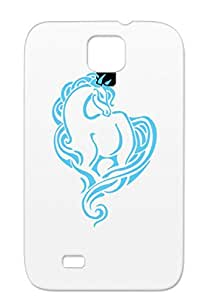 T Shirt Animals Tribal Blue Art Horse Animals Nature Horses Design Tattoo Navy Horse 1 TribalTattoo Blue For Sumsang Galaxy S4 Case Cover