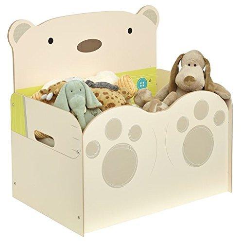 Worlds Apart 519SNG01E Spielzeugkiste im Bärendesign für Kinder – Aufbewahrungstruhe für das Kinderzimmer