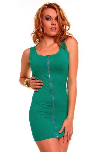 """Waooh - Mode - Kleid """"Louna"""" mit Reißverschluss - grün"""