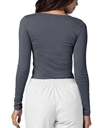 ADAR UNIFORMS Adar Womens Comfort Long Sleeve T-Shirt Underscrub Tee - 2900 - Pewter - S by ADAR UNIFORMS (Image #1)