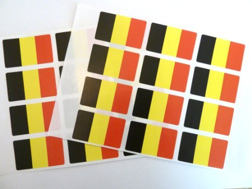 - Minilabel Pack Of 24 , 50X30mm , Belgium Self-Stick Flag Stickers Self-Adhesive Labels